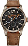 BOSS Orange Herren-Armbanduhr PARIS Multieye Analog Quarz Leder 1513240