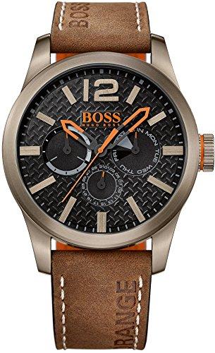 BOSS-Orange-Herren-Armbanduhr-PARIS-Multieye-Analog-Quarz-Leder-1513240