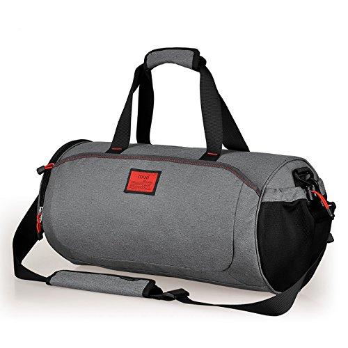 """Fresco nuovo! Mixi Duffel Stile avanti Sport Viaggi Borsa / Gym Bag a tracolla, zip Compartimenti (grigio Stonehenge, 18"""")"""