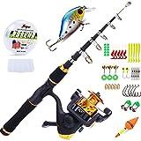 Sougayilang, canne à pêche télescopique avec moulinet d'enfant pour la pêche à...