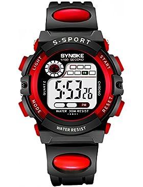 Children 's watch wasserdicht luminous multi - functional sports electronic-D