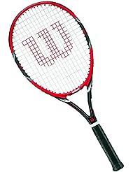 Wilson Raqueta de tenis unisex, Para juegos en todas las áreas, Para jugadores aficionados, Federer Team 105, Medida 3, Rojo/Gris