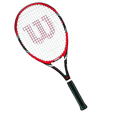 Wilson Tennisschläger Damen/Herren, All Courter, Freizeitspieler, Federer Team 105, Größe 3, Rot/Grau