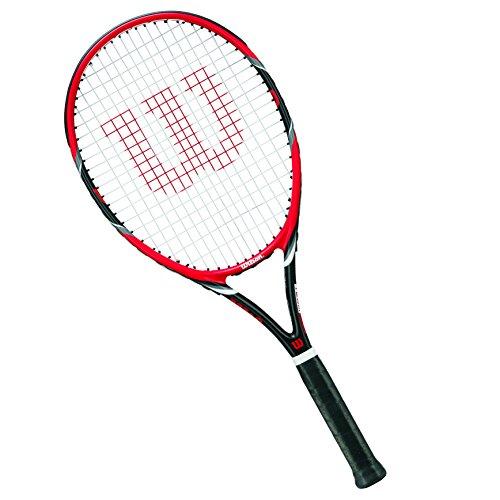 Wilson Tennisschläger Damen/Herren, All Courter, Freizeitspieler, Federer Team 105, Größe 1, Rot/Grau