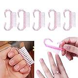 Demiawaking 10pcs Spazzola per Unghie con Maniglia Plastica Strumenti Manicure Pedicure