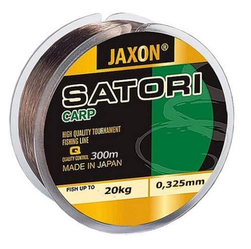 Jaxon Karpfenschnur schnell sinkend Angelschnur Satori CARP 300m Spule Monofile Karpfen Schnur (0,325mm / 20kg)