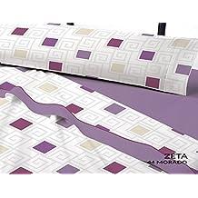 Juego de cama invierno Térmica Zeta cama de 90 color Morado