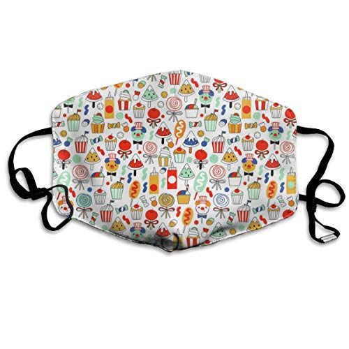 Big Top Treats Pattern Anti-dust Cotton Mouth Face Masks Reusable for Outdoor Half Face Masks