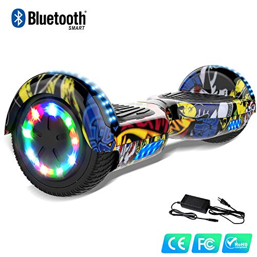 Watson Balance Board électrique 6.5 Pouces Gyropodes Flash LED Smart Scooter avec Bluetooth Auto Equilibré HHHoverboarrrd Self Balancing E-Skateboard 350W * 2