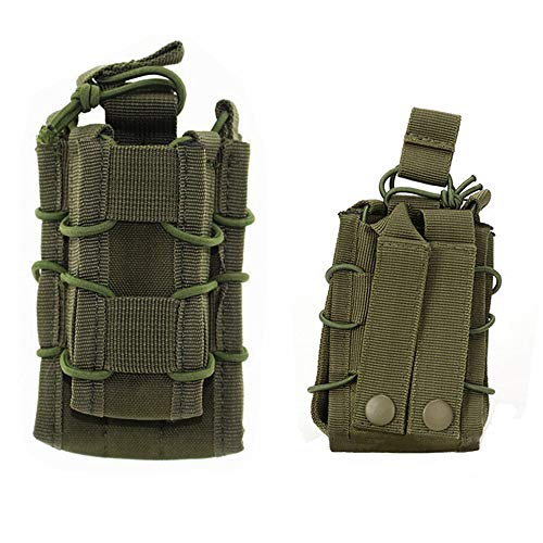 HWZ Tactical Molle Magazine Pouch Open-Top Single Rifle Pistol Mag Pouch AR/M4/M16 Cartridge Clip Pouch Hunting Bag (Green) -