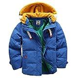 [Kinder Winterjacke mit Kapuze] Daunenjacke für Jungen Wintermantel Down Jacket