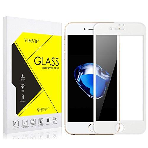 Protector de pantalla de cristal templado para iPhone 7, de la marca Vimvip, con marco de Fibra de Carbono, cobertura suave completa de borde a borde, para iPhone 7de 4,7pulgadas