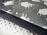 Qjutie Lottashaus 3X Fleece no13 Stoffpaket 50x70cm Schafe