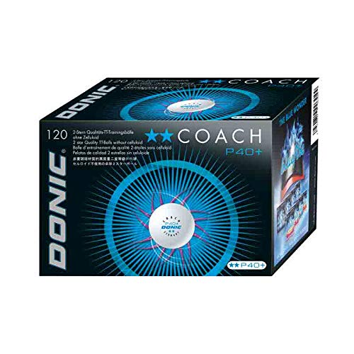 DONIC Ball Coach P40+ ** 120er, weiß -