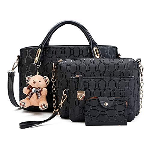Pahajim Damen Handtaschen Handtaschen Leder Frauen Handtaschen Set 6 teiliges Fashion Rucksack Damenhandtasche tasche taschen günstig beuteltasche günstige handtaschen
