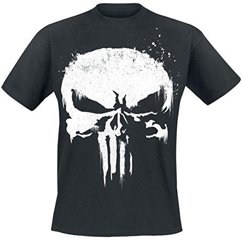 The Punisher Sprayed Skull Logo T-Shirt Schwarz M (Skull Logo T-shirt)