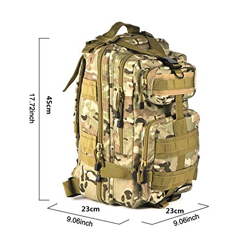 Imagen de eyourlife  militar táctica molle para acampada camping senderismo deporte backpack de asalto patrulla para hombre mujer caqui colorido 20l alternativa
