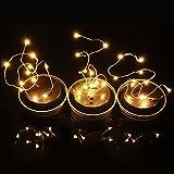 DOLDOA LED Licht,Solar LED Licht Für Mason Jar Deckel Garten Dekor,Gelb (Nur Solar Mason Jar Lid)
