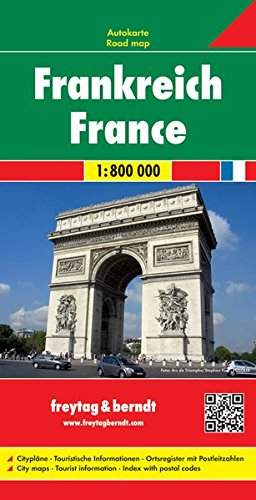 Francia 1:800.000: Wegenkaart 1:800 000 (Auto karte)