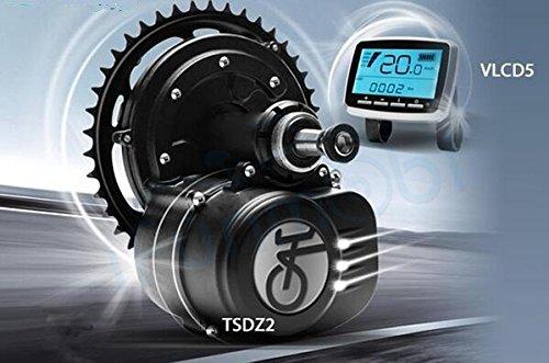 LIVRAISON GRATUITE High Speed Tongsheng 48V350W Mid Conversion de disque Moteur Brushless Paré Ebike central kit écran Vlcd5Vélo électrique DIY pièces Incluent des gaz et leviers de frein dans CE kit