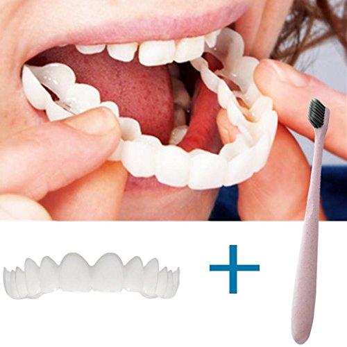 (TAOtTAO Temporäre Lächeln Comfort Fit Kosmetische Zähne Prothese Zähne Top Cosmetic Veneer)