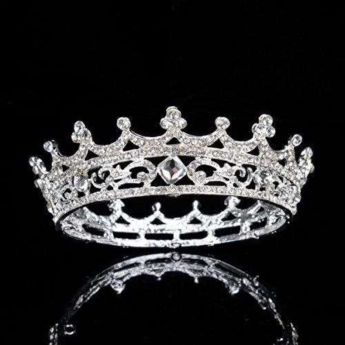 Topwedding Rhinestone Bridal Headband Wedding Crown Tiara Headpiece, Women