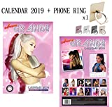 Ariana Grande Calendrier 2019(Taille Poster A3) + Téléphone Bague support métallique support pour tous les téléphone portable