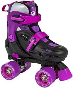 SFR Storm Black/Purple Limited Edition Quad Roller Skates Small