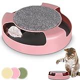 Leopet Katzenspielzeug Katzenkarussel Spielzeug für Katzen mit rotierender Maus und
