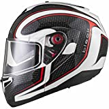 Black Optimus SV Element Motorrad Roller Klapphelm M Black White