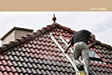 Dachfarbe seidenmatt versch. Farben Dachanstrich | BEKATEQ BE-510 Dachbeschichtung Dachsanierung Sockelfarbe Dachlack | Dachziegel Farben Dachversiegelung für Dachgaube, Dachpfannen, Blechdach, Metalldach, Ziegeldach, Flachdach | Wasser & Schmutzabweisend, Wetterbeständig, hohe Deckkraft (20L, Beige)