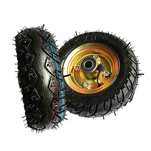 DXJL Ruote per Mobili Rotelle,(2 Pezzi) 6 Pollici Gonfiabile Della Rotella 15Cm Di Pompaggio Caster Trolley Wheel Muto Rubber Tire Pull Cart Wheel Singolo muto