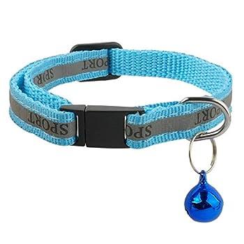 Lot de 3Collier réfléchissant pour chat avec Bell?Taille idéale pour colliers pour chats ou petits chiens, boucle de dégagement rapide de sécurité (Lot de 3)