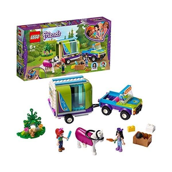 LEGO - Friends Il rimorchio dei cavalli di Mia, Set di Estensione Stabile, Buggy 4x4, Mini-doll Mia ed Emma, Idea Regalo… 1 spesavip