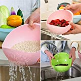 #4: Ketsaal (Pack Of 3)Rice Pulses Fruits Vegetable Noodles Pasta Washing Bowl & Strainer Good Quality & Perfect Size for Storing and Straining.