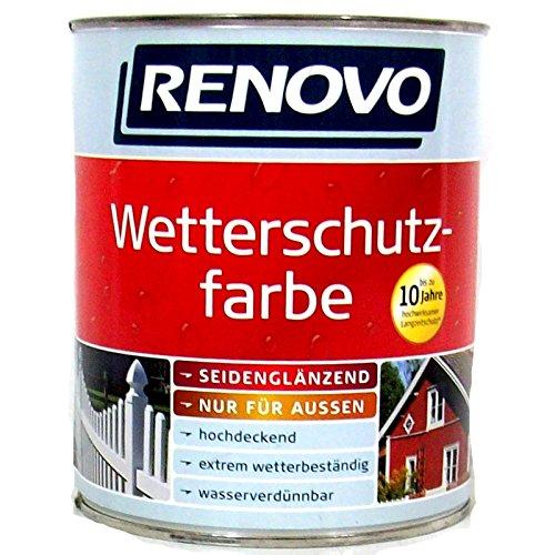 Renovo Wetterschutzfarbe Lichtgrau 7035, 750 ml