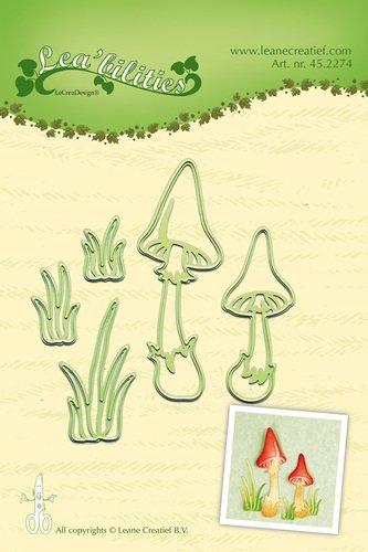 Stanz- und Prägeschablone - Mushrooms