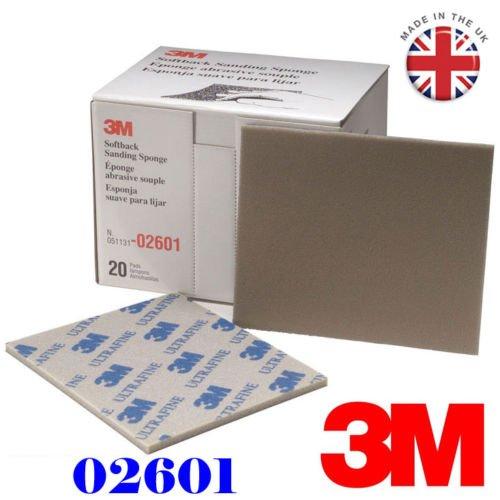 3M esponja de lija de tapa blanda 2601Ultra Fine abrasivos (1piezas) grado gama 800# -1000#