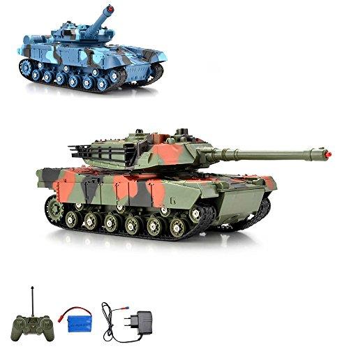 RC ferngesteuerter German Leopard Kampf Panzer Tank Kettenfahrzeug, Schusssimulation, Sound- und Lichteffekte, Komplett-Set
