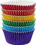 Wilton Standard Baking Cups Multi Primary Foil 7, Acrylic, Multicoloured, 3-Piece