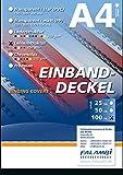 100 Einbanddeckel Leinenstruktur, Rückenkarton 250 gr/m², Rückendeckel für Bindungen (schwarz)