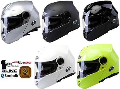 Viper RS-V151 BL + Bluetooth helm Klapphelm, Modularhelm Mattschwarz (XS) (Atv Helm Mit Bluetooth)