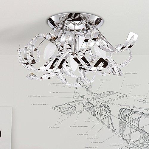 Plafoniera led soffitto moderna plafoniera cristalli design lampadario cristallo  plafoniera bagno、camera letto moderno