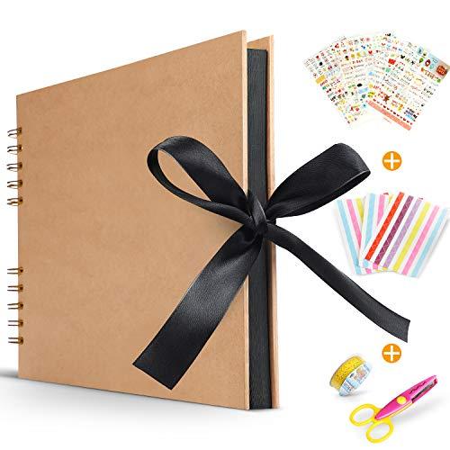 Koooper Libro Aventuras up, Álbum de Fotos DIY, Album up, Tijeras, Pegatinas Cumpleaños/Aniversario/Boda/Graduación...