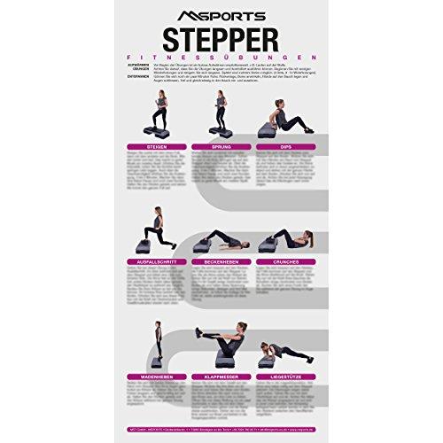 Übungsposter für das Steppbrett ca. 44x 21 cm | 9 Übungen