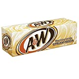 A&W Refresco con Gas, Sabor Vainilla - Paquete de 12 x 355 ml - Total: 4260 ml