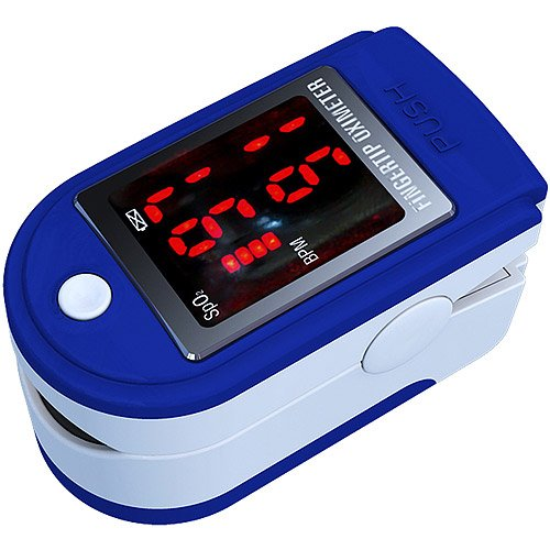 AAJ Finger Pulse Oximeter with LED Display (Includes Carrycase, 2 x AAA Batteries and Strape)