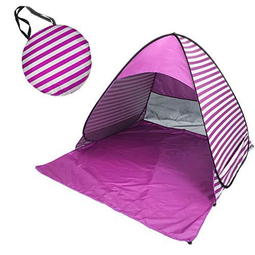 MISSMAO_FASHION2019 Strandmuschel Pop-up Strandzelt Extra Leicht,Familien Windschutz Zelt Leichtes 2- bis 3-Personen-Zelt für Strand oder Rucksack mit Tagetasche Pink Einheitsgröße