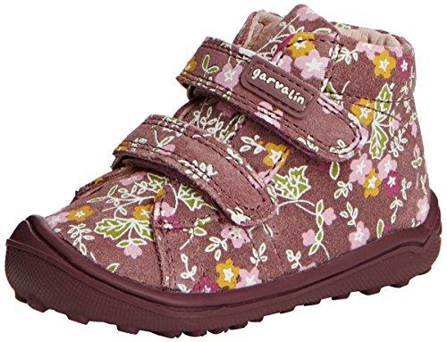 Garvalin 151302, Mädchen Kurzschaft Stiefel, Mehrfarbig (Rosa Oscuro Y Estampado Flores), 36 EU (Garvalin Schuhe Kinder)