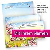 Briefpapier Set Florentina PERSÖNLICH (25 Sets) mit Wunschnamen bedruckt - tolle Geschenkidee Frau